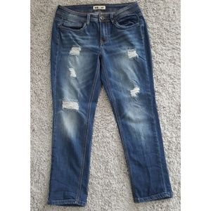 [Dollhouse] Distressed Cropped Jeans